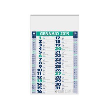 F04483 - VB BASIC Calendario olandese 12 ff. 28,8x47 ca.