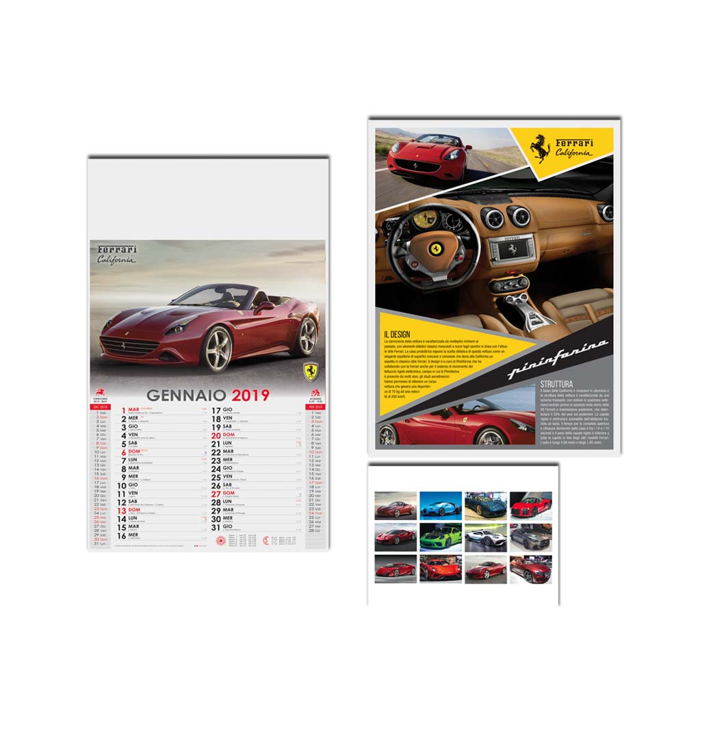 Calendario Auto.Calendario Auto F05000 Emmerre Pubblicita