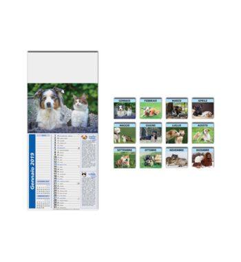 F05600 - CANGAT_Calendario mignon illustrato 12 ff. 22x49 ca.